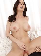 Engaging cutie Brandy Aniston spreading pussy and riding an awesome dick