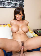 Irresistible milf Lisa Ann shows her yummy boobies and pleases her husband