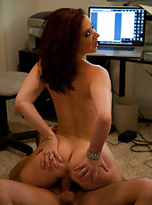 Delectable whore Jayden Jaymes using big boobs to make her husband satisfied