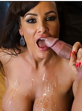 Hot pornstar Lisa Ann showing big ass and banging with a handsome fellow