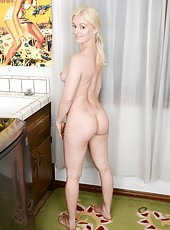 Raunchy and delightful mature Skye Daniels spreading legs and showing ass