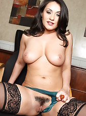 Milf with trimmed pussy Charley Chase is demonstrating her nice big boobies