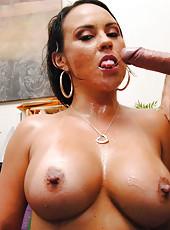 MILF Mariah Milano is sucking big dick of her hardcore boss in the office