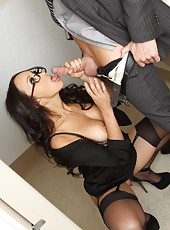 Asian secretary Katsuni being drilled in her awesome booty and covered with cum