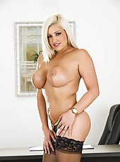 Bleached cutie Dayna Vendetta shows off her awesome big melons and good ass
