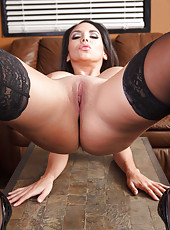 Astonishing assy milf Missy Martinez shows her wide-opened shaved pussy