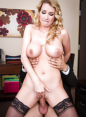 Unmatched MILF Blake Rose riding a cock and doing a breathtaking blowjob