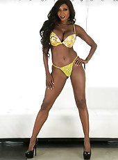 Exceptional ebony MILF Diamond Jackson showing her perfect body in bikini