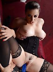 Horny MIlfs Capri Cavanni and Taylor Vixen using a strap-on for pleasure