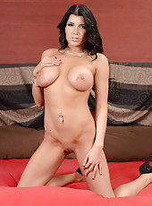 Staggering MILF Romi Rain showing her magnificent body with her boobs