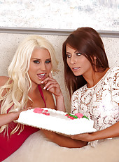 Hot and wild lesbian scene with gentle milfs named Madison Ivy and Spencer Scott
