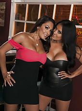 Passionate and sexy lesbian fucking with pretty milfs named Kiara Mia and Nina Mercedez