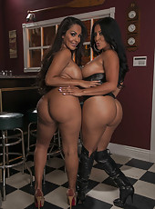 Passionate and sexy lesbian fucking with pretty milfs named Kiara Mia and Nina Mercedez