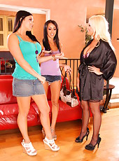 Glamorous ladies Breanne Benson, Britney Amber and Mackenzee Pierce without boyfriends
