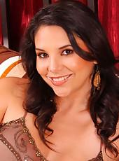 Elegant dark haired lady Missy Martinez has a sexy fatty body and big boobs