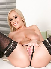Busty milf Jessica Moore is demonstrating her new lingerie
