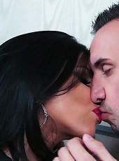 Exquisite pornstar Romi Rain adores working with big dicks and sucking balls