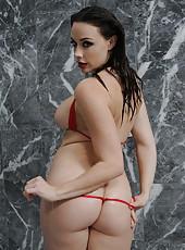 Flawless pornstar Chanel Preston adores swallowing cocks in bathroom
