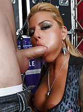 Tattooed babe Britney Shannon loves fucking hard with her handsome boyfriend