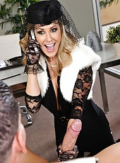 Ash Hollywood and Brandi Love trying to make their friend entirely pleased