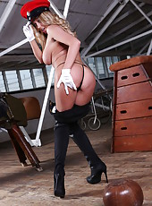 Amazing hooker Lexi Lowe spreading pussy and working with big tits