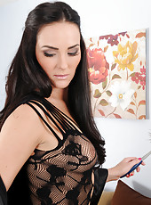 Juicy 31 year old housewife Bianca Breeze shows off her round ass