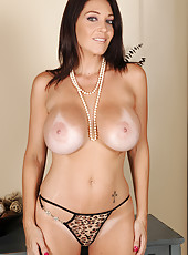 36 year old Charlee Chase showing off her big juicy melons in here