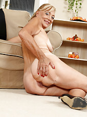 At 65 years old Kamilla likes to spread her legs for the cameraman