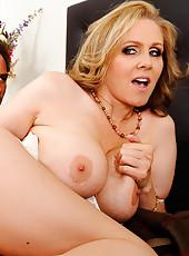 Julia Ann caught her son