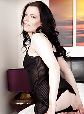 Anilos cougar looks like a naughty vixen in her sheer lingerie