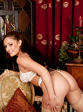 Sweet mom reveals tasty lingerie at home