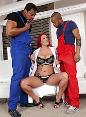 Paige Delight fucks two black cocks