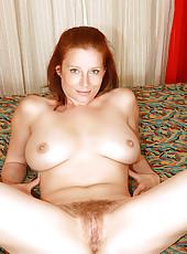 Hairy Redhead Gets Her Bush Fucked