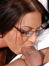 Babe Sucks Cock With Pierced Tongue