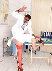 Doctor Spanks & Fucks Naughty Nurse