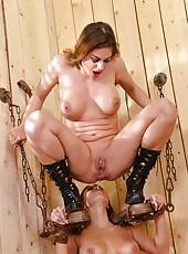 Slave Girl Gets Flogged & Pissed On