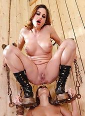Slave Girl Gets Flogged & Pissed On