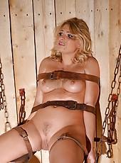 Pretty Blonde Prisoner Takes a Piss