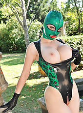 Latex Lucy Shows Her Taut Asshole