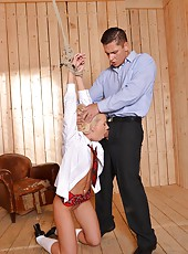 Dr. Takes Schoolgirl Into Kink Room