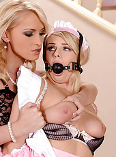 Maid Gets A Paddling By Mistress