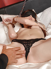 Chained Up Chick Gets A Spanking
