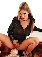 Slave Girl Gets A Shiny Ass Plug