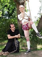 Bondage Master Ties Schoolgirl Up