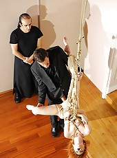 Blonde Rope Bound Gets Fully Fucked