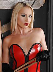 Mistress Gapes Bound Slave