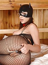 Kittenish Slavegirl Lapping Up Milk