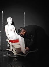 Girl Mummified, Fingered & Spanked