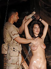 Bound Captive Oiled and Feathered