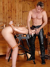 Paige gets bound and drilled hard